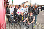 BIKE RUN: Member's of the Reaper Clan MCC who celebrated their 1st birthday with a bike run in aid of Recovery Haven at Dowdie's bar, Tralee on Saturday front l-r: Ruairi Fry, Josh O'Sullivan and Bob Clarence Blackmore. Back l-r: Aimee Fogarty, Eileen Kennedy, Maureen O'Brien, Tracey Barrett, Patricia Comerford, Eileen Comerford, Helen Leahy, Stephen Flaherty and Joe Barrett.