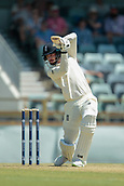 November 4th 2017, WACA Ground, Perth Australia; International cricket tour, Western Australia versus England, day 1; James Vince drives the ball to the boundary during his innings of 82