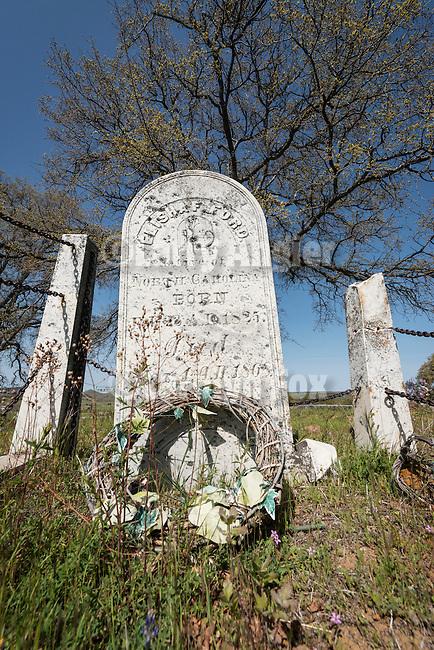 Historic 19th century Gold Rush era City Cemetery, Chinese Camp, Calif...Elisa Ford