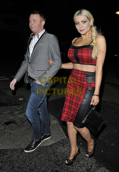 LONDON, ENGLAND - FEBRUARY 27: guest &amp; Nicola McLean attend the Inanch London hair extensions brand launch party, Iberica Marylebone bar &amp; restaurant, Great Portland St., on Thursday February 27, 2014 in London, England, UK.<br /> CAP/CAN<br /> &copy;Can Nguyen/Capital Pictures