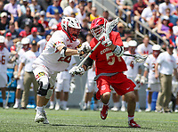Annapolis, MD - May 20, 2018: Cornell Big Red a Jeff Teat (51) is being defended by Maryland Terrapins Matt Neufeldt (28) during the quarterfinal game between Maryland vs Cornell at  Navy-Marine Corps Memorial Stadium in Annapolis, MD.   (Photo by Elliott Brown/Media Images International)