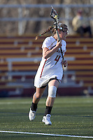 Boston College attacker Brooke Blue (4). University at Albany defeated Boston College, 11-10, at Newton Campus Field, on March 30, 2011.