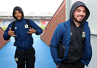 Blackburn Rovers' Dominic Samuel and Blackburn Rovers' Bradley Dack<br /> <br /> Photographer Rachel Holborn/CameraSport<br /> <br /> The EFL Sky Bet League One - Blackburn Rovers v Oldham Athletic - Saturday 10th February 2018 - Ewood Park - Blackburn<br /> <br /> World Copyright &copy; 2018 CameraSport. All rights reserved. 43 Linden Ave. Countesthorpe. Leicester. England. LE8 5PG - Tel: +44 (0) 116 277 4147 - admin@camerasport.com - www.camerasport.com