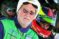 May 17, 2009: Ricardo Zonta, right, watches from the pits at the Verizon Festival of Speed Grand-Am Rolex Series race at Mazda Raceway at Laguna Seca  in Salinas, CA. (Photo by Brian Cleary/www.bcpix.com)