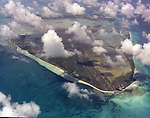 Aerial view of the Bahama Islands
