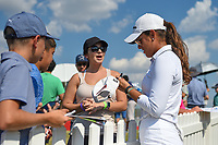 Maria Fassi (MEX) signs autographs near the green on 18 following the round 3 of the Volunteers of America Texas Classic, the Old American Golf Club, The Colony, Texas, USA. 10/5/2019.<br /> Picture: Golffile   Ken Murray<br /> <br /> <br /> All photo usage must carry mandatory copyright credit (© Golffile   Ken Murray)
