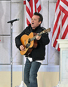 "Washington, DC - January 18, 2009 -- John Mellencamp performs at the ""Today: We are One - The Obama Inaugural Celebration at the Lincoln Memorial"" in Washington, D.C. on Sunday, January 18, 2009..Credit: Ron Sachs / CNP.(RESTRICTION: NO New York or New Jersey Newspapers or newspapers within a 75 mile radius of New York City)"
