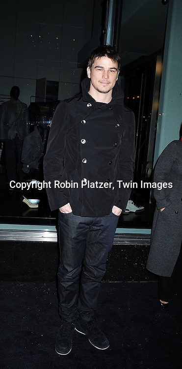actor Josh Hartnett..arriving at The Armani/ 5th Avenue Store Opening at 717 Fifth Avenue in New York City on February 17, 2009.....Robin Platzer, Twin Images