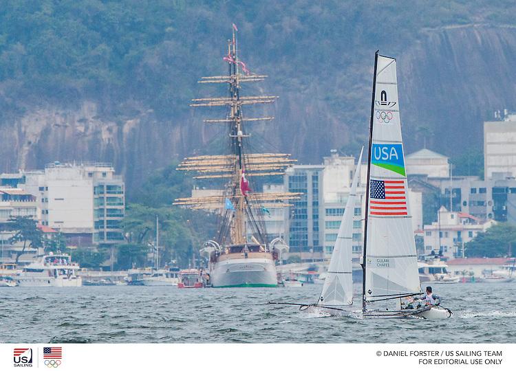 Nacra 17 USA Bora Gulari USABG Louisa Chafee USALC41<br /> <br /> 2016 Olympic Games <br /> Rio de Janeiro
