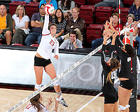 September 19,  2015 -- Stanford, CA:  Stanford over Pacific, 25-22, 25-18, 25-20, at Maples Pavilion.