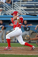 Batavia Muckdogs shortstop Anthony Melchionda #16 during an exhibition game against the Newark Pilots of the Perfect Game Collegiate Baseball Lague at Dwyer Stadium on June 15, 2012 in Batavia, New York.  Batavia defeated Newark 8-0.  (Mike Janes/Four Seam Images)