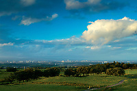 Glasgow and the Campsie Fells from Neilston, East Renfrewshire