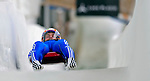 7 February 2009: Viktor Kneib slides for Russia in the Men's Competition at the 41st FIL Luge World Championships, in Lake Placid, New York, USA. .  .Mandatory Photo Credit: Ed Wolfstein Photo
