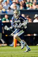 February 20, 2011:   Notre Dame defense Donald Keough (34) during Lacrosse action between the Duke Blue Devils and Notre Dame Fighting Irish during the Moe's Southwest SunShine Classic played at EverBank Field in Jacksonville, Florida. Notre Dame defeated Duke 12-7.