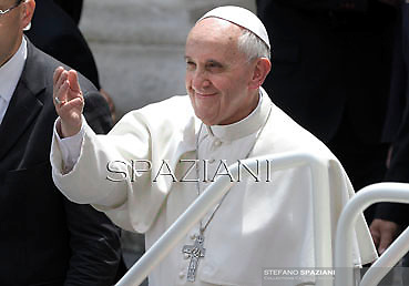 Pope Francis during his weekly general audience in St. Peter square at the Vatican, Wednesday. 5 June  2013