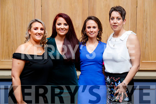 Christina Murphy, Aisling Griffin, Lorraine Daly and Jane Walsh, pictured at Sickly Come Dancing, UHK, at Ballygarry House Hotel & Spa, Tralee on Friday night last.