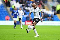 Andre Ayew of Swansea City in action during the Sky Bet Championship match between Cardiff City and Swansea City at the Cardiff City Stadium in Cardiff, Wales, UK. Sunday 12 January 2020