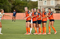 SAN ANTONIO, TX - AUGUST 30, 2019: The Texas State University Bobcats defeat the University of Texas at San Antonio Roadrunners 1-0 at the Park West Athletics Complex. (Photo by Jeff Huehn)