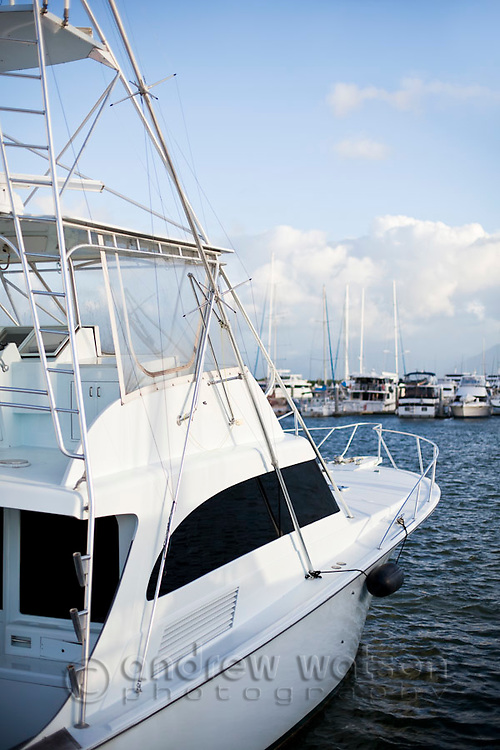 Game fishing boat at Marlin Marina.  Cairns, Queensland, Australia