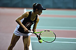 ATHENS, GA - MAY 23: Emma Higuchi of Stanford University takes on the University of Florida during the Division I Women's Tennis Championship held at the Dan Magill Tennis Complex on the University of Georgia campus on May 23, 2017 in Athens, Georgia. (Photo by Steve Nowland/NCAA Photos via Getty Images)