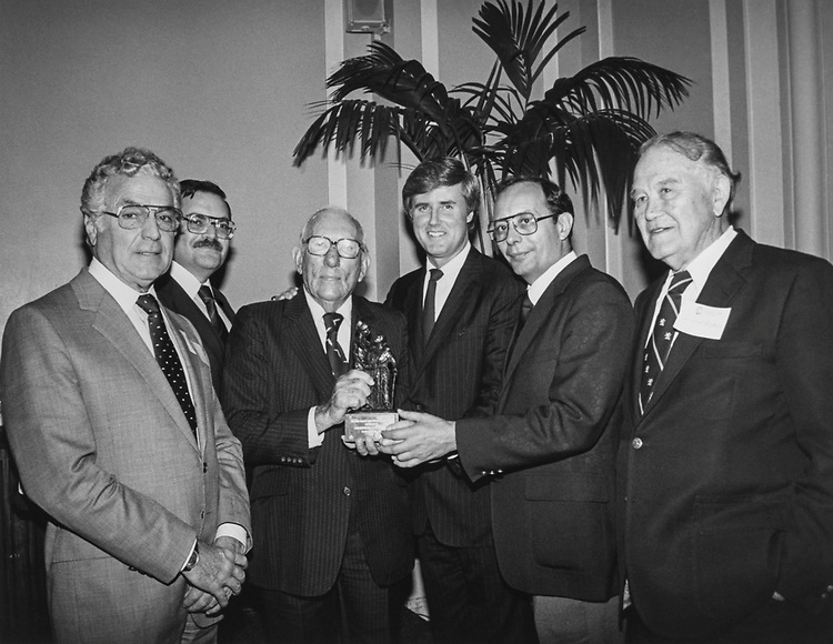 Rep. Claude Pepper, D-Fla., at the Healthcare Humanitarian Award by Quality Care Inc. in June 1989. (Photo by CQ Roll Call)