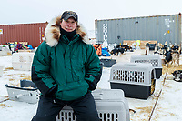 Dr. Stu Nelson, Chief vet in the dog lot in Nome during the 2017 Iditarod on Friday March 17, 2017.<br /> <br /> Photo by Jeff Schultz/SchultzPhoto.com  (C) 2017  ALL RIGHTS RESERVED