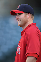 Mark Trumbo #44 of the Los Angeles Angels before a game against the Seattle Mariners at Angel Stadium on June 5, 2012 in Anaheim,California. Los Angeles defeated Seattle 6-1.(Larry Goren/Four Seam Images)