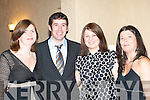 FUN: Corinna and Brendan Mulhern, Kilcummin, with Pamela and Margaret O'Sullivan, Killarney, having fun at the St Pat's Hurling Club social in Killarney Heights Hotel on Friday night.   Copyright Kerry's Eye 2008
