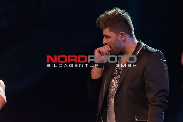 16.05.2015, &Ouml;VB-Arena, Bremen, GER, DSDS sucht den Superstar _ Finale 2015, im Bild<br /> <br /> Severino Seeger (27 When I Was Your Man &ndash; Bruno Mars )<br /> <br /> <br /> Foto &copy; nordphoto / Kokenge