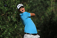 Adrian Meronk (POL) on the 7th tee during Round 1 of the Challenge Tour Grand Final 2019 at Club de Golf Alcanada, Port d'Alcúdia, Mallorca, Spain on Thursday 7th November 2019.<br /> Picture:  Thos Caffrey / Golffile<br /> <br /> All photo usage must carry mandatory copyright credit (© Golffile | Thos Caffrey)