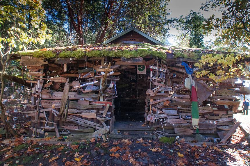 Driftwood Enhanced Cabin, Wallace Island, Gulf Islands National Park Reserve, British Columbia, Canada