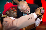 © Joel Goodman - 07973 332324 . 26/09/2016 . Liverpool , UK . JEREMY CORBYN (right) poses for a selfie with a delegate in the conference hall . The second day of the Labour Party Conference at the ACC Liverpool . Photo credit : Joel Goodman
