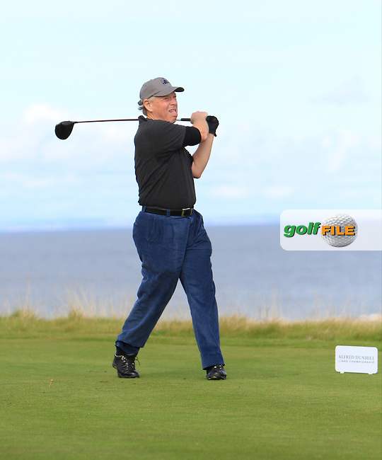 Alan Quasha during Round 1of the Alfred Dunhill Links Championship at Kingsbarns Golf Club on Thursday 26th September 2013.<br /> Picture:  Thos Caffrey / www.golffile.ie