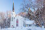 The Quechee Community Church in Quechee village, Hartford, VT, USA