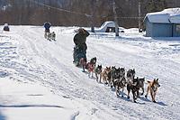 Tim Osmar and Rachael Scordis arrive at Grayling during Iditarod 2009