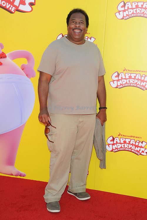 Leslie David Baker arriving at the Los Angeles premiere of Captain Underpants, held at the Regency Village Theater in Westwood California on May 21, 2017