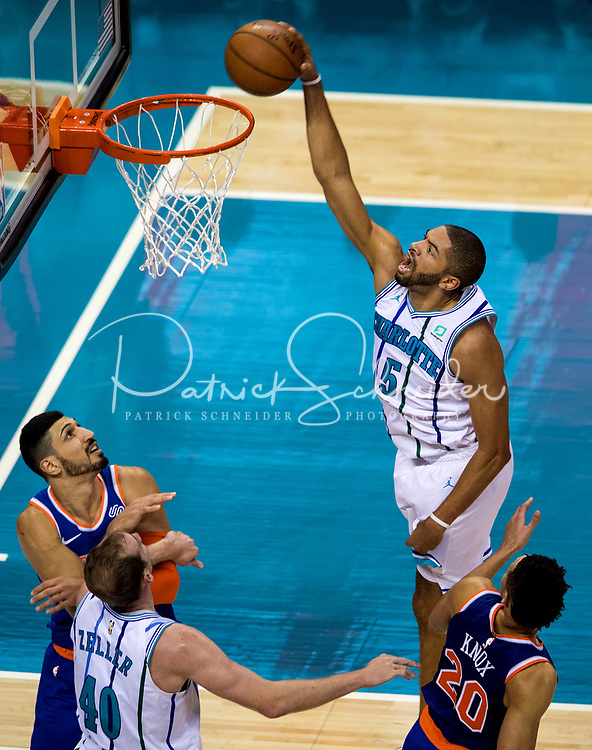 Photography of the Charlotte Hornets v. The New York Knicks at the Spectrum Center in Uptown Charlotte, North Carolina.<br /> <br /> Charlotte Photographer - PatrickSchneiderPhoto.com