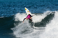 BELLS BEACH, Torquay, Victoria, Australia    (Tuesday, April 3, 2018) Tatiana Weston-Webb (HAW) - Top seeds continue to fall at the Rip Curl Pro Bells Beach, Stop No. 2 on the World Surf League (WSL) Championship Tour (CT), after completing men&rsquo;s Rounds 3 and 4, and the women&rsquo;s Quarterfinals in four-to-six foot (1.2 - 2 metre) conditions. <br /> <br /> Today witnessed all but three WSL Championships dispatched with John John Florence (HAW), Joel Parkinson (AUS), Adriano de Souza (BRA), and Carissa Moore (HAW) out of the draw. Now, only Mick Fanning (AUS), Stephanie Gilmore (AUS), and Gabriel Medina (BRA) represent the class of elite World Champions heading into the Final Series of the iconic Rip Curl Pro Bells Beach event. <br /> <br /> Two-time, reigning WSL Champion Florence is out of the Rip Curl Pro Bells Beach after losing to compatriot Ezekiel Lau (HAW) in the opening heat of the day. In Round 3 Heat 7, Lau put the pressure on Florence by jostling for position. Lau&rsquo;s physical assertion seemed to throw Florence off his game as he struggled to find a wave of substance. Lau, on the other hand, looked confident and powerful in that heat as well as in Round 4, where he defeated Frederico Morais (PRT) and Conner Coffin (USA). <br /> <br /> Photo: joliphotos.com