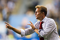 Real Salt Lake head coach Jason Kreis. The Philadelphia Union and Real Salt Lake played to a 0-0 tie during a Major League Soccer (MLS) match at PPL Park in Chester, PA, on August 24, 2012.