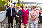 President and Mrs Higgins been greeted by David Browne (Chairman of Seanchaí Centre) and Cara Trant (Manager) on his visit to the Seanchaí Centre Listowel on Friday evening.
