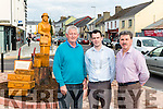 Brendan Foley (chairman of Killorglin Tidy Towns, John Francis Flynn (South West Kerry Mayor) and Michael O'Shea (Mayor of Kerry) unveiled Lady statue in Killorglin last Saturday.