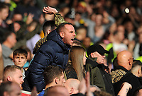 Cardiff City fans show there anger at the final whistle <br /> <br /> Photographer Ian Cook/CameraSport<br /> <br /> The EFL Sky Bet Championship - Swansea City v Cardiff City - Sunday 27th October 2019 - Liberty Stadium - Swansea<br /> <br /> World Copyright © 2019 CameraSport. All rights reserved. 43 Linden Ave. Countesthorpe. Leicester. England. LE8 5PG - Tel: +44 (0) 116 277 4147 - admin@camerasport.com - www.camerasport.com