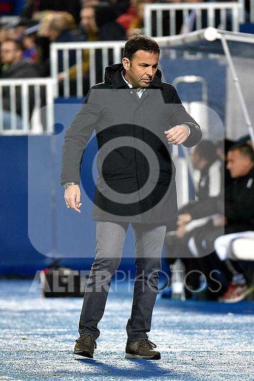 Leganes vs Villarreal coach Javi Calleja during Copa del Rey match. 20180104.