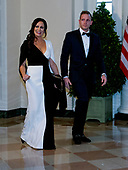 Stephanie Grisham and Max Miller arrive for the State Dinner hosted by United States President Donald J. Trump and First lady Melania Trump in honor of Prime Minister Scott Morrison of Australia and his wife, Jenny Morrison, at the White House in Washington, DC on Friday, September 20, 2019.<br /> Credit: Ron Sachs / Pool via CNP