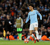 Manchester City's Leroy Sane<br /> <br /> Photographer Rich Linley/CameraSport<br /> <br /> UEFA Champions League Round of 16 Second Leg - Manchester City v FC Schalke 04 - Tuesday 12th March 2019 - The Etihad - Manchester<br />  <br /> World Copyright &copy; 2018 CameraSport. All rights reserved. 43 Linden Ave. Countesthorpe. Leicester. England. LE8 5PG - Tel: +44 (0) 116 277 4147 - admin@camerasport.com - www.camerasport.com