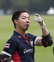 Apichet Srivaddhanaprabha (King Power) scorer of the winning goal during the Cartier Trophy Final match between King Power and Salkeld at the Guards Polo Club, Windsor, Smith's Lawn, England on 14 June 2015. Photo by Andy Rowland.
