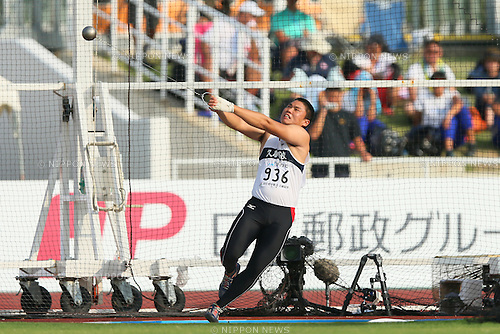 Ryota Muraki, JULY 29, 2015 - Athletics : 2015 All-Japan Inter High School Championships, Men's Hammer Throw Final at Kimiidera Athletic Stadium, Wakayama, Japan. (Photo by YUTAKA/AFLO SPORT)