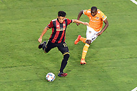 Atlanta, Georgia - Saturday, May 20, 2017: Atlanta United, behind a hat trick from midfielder Miguel Almiron, played in front of their fourth consecutive home sellout crowd, defeating the Houston Dynamo, 4-1.