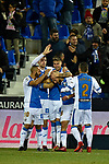 Leganes Mitchell Langerak goal celebration vs Villarreal during Copa del Rey match. 20180104.