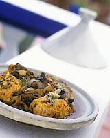"""Afrique/Maghreb/Maroc/Essaouira : Tajine de congre - Recette de Fatima-Zohra Lakrik cuisinère de la villa """"Maroc"""""""